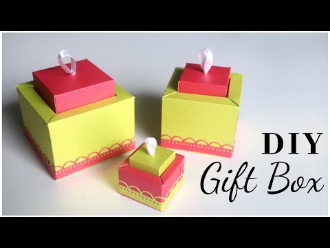Unique Gift Box Idea | DIY Paper Box for Christmas Gifts / Valentines Day Gifts / Mothers Day Gifts