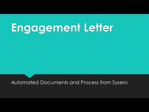 Using Automation: New Client Engagement Letter