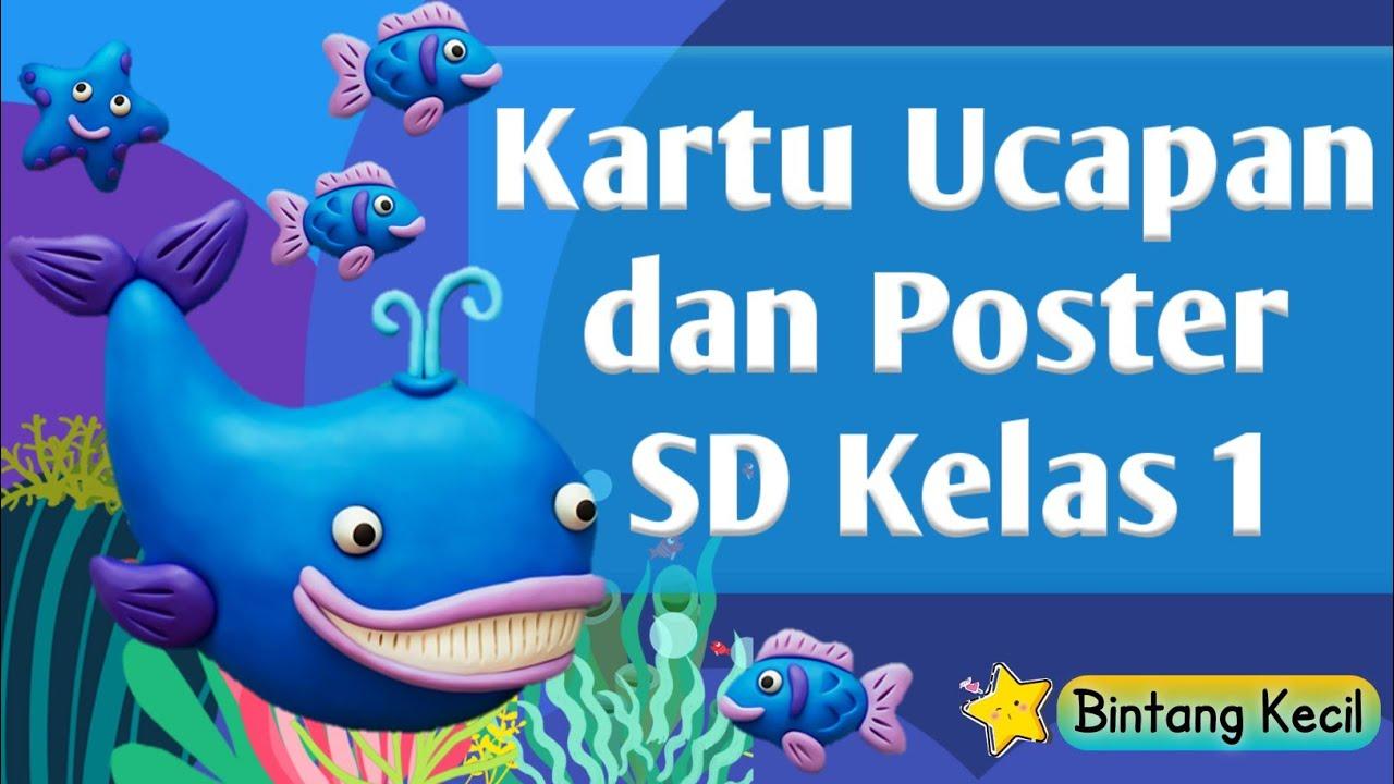 KARTU UCAPAN DAN POSTER SD KELAS 1 - YouTube