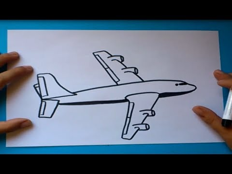 Como dibujar un avion paso a paso 2  How to draw a plane 2  YouTube