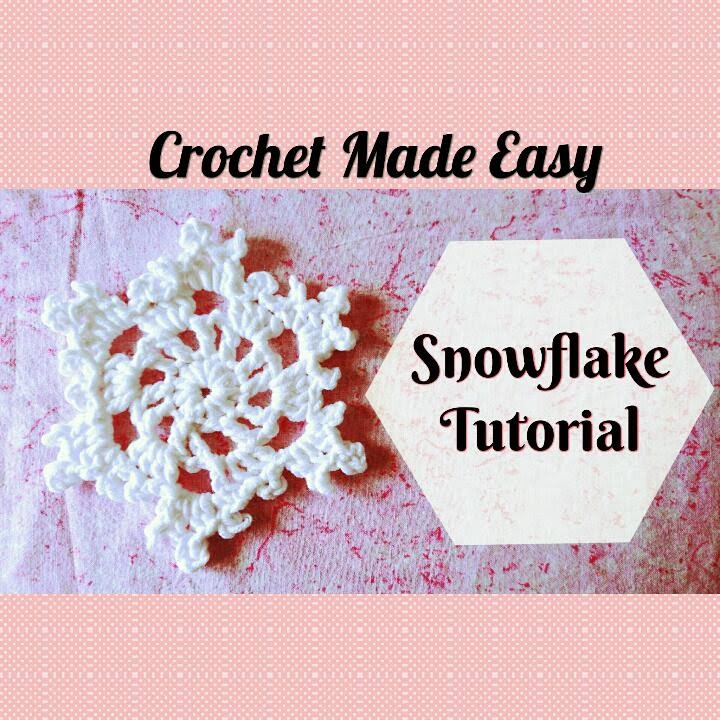 Crochet Made Easy How To Make A Large Snowflake Tutorial