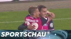 DFB-Pokal: HSV schießt Tore und siegt in Halle | Sportschau