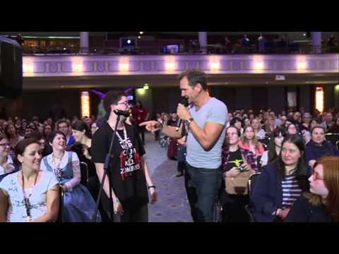 THE VAMPIRE DIARIES Stars Sebastian Roché & Nathaniel Buzolic at RingCon! Amazing!!!
