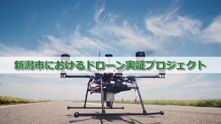 新潟市におけるドローン実証プロジェクト(水稲、海岸保安林)