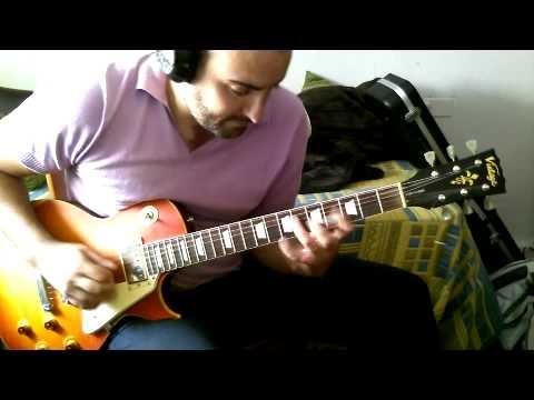 Testing Vintage V100 Les Paul Guitar