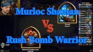 Rush Bomb Warrior vs Murloc Shaman | Hearthstone