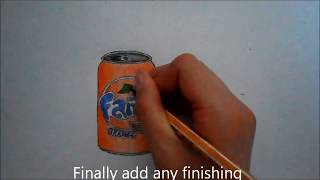 How to draw a fanta can  actual