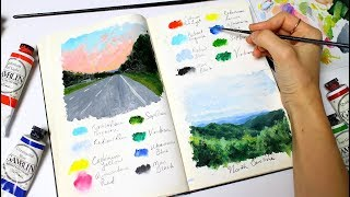 Landscapes From A Road Trip | Sketchbook Sunday #39