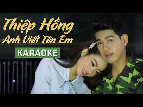 KARAOKE   Thiệp Hồng Anh Viết Tên Em - Sa Huỳnh ft. Quang Nghị   Official MV