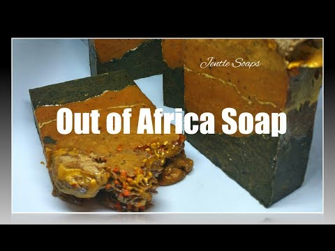 Out of Africa  | Hot Process Countertop Fluid Soap Making  | Artisan Black Soap |  Jentle Soaps
