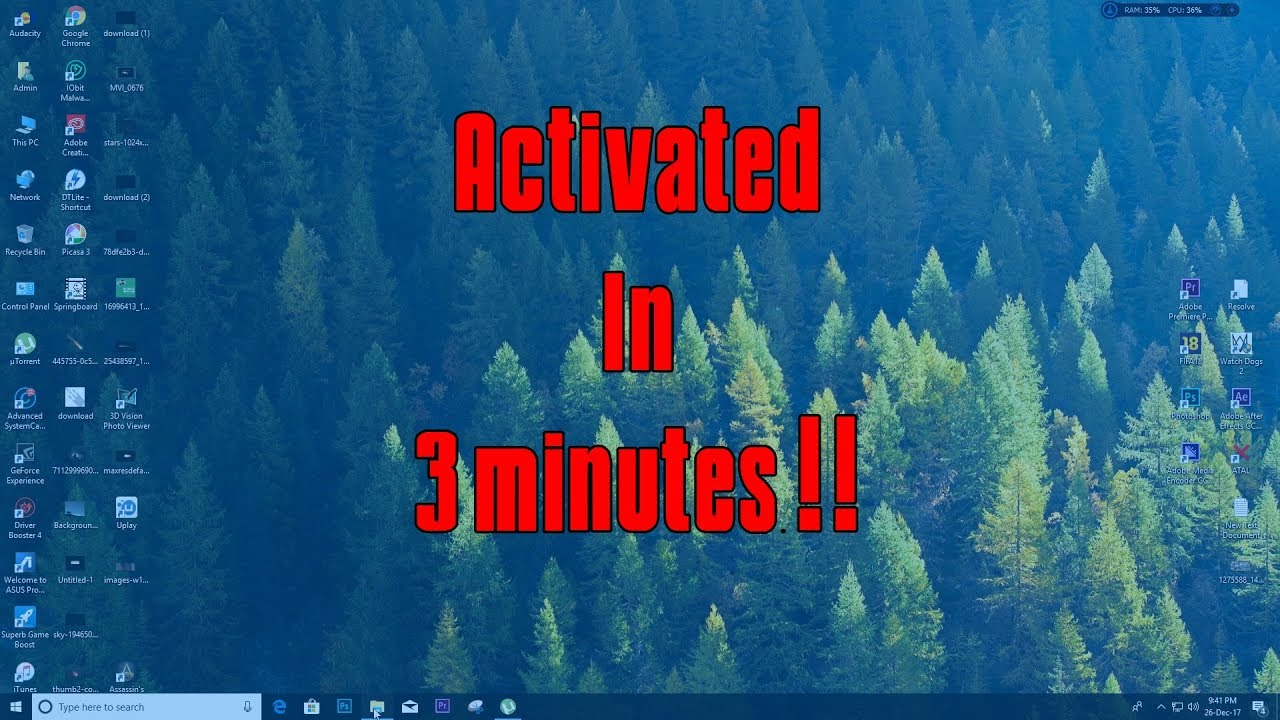 How to Activate Windows 10 in 3 minutes !!