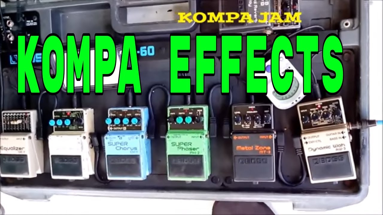 kompa guitar effects pedals demo youtube. Black Bedroom Furniture Sets. Home Design Ideas