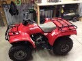 Restored Honda 1995 Fourtrax 200 type 2 overview