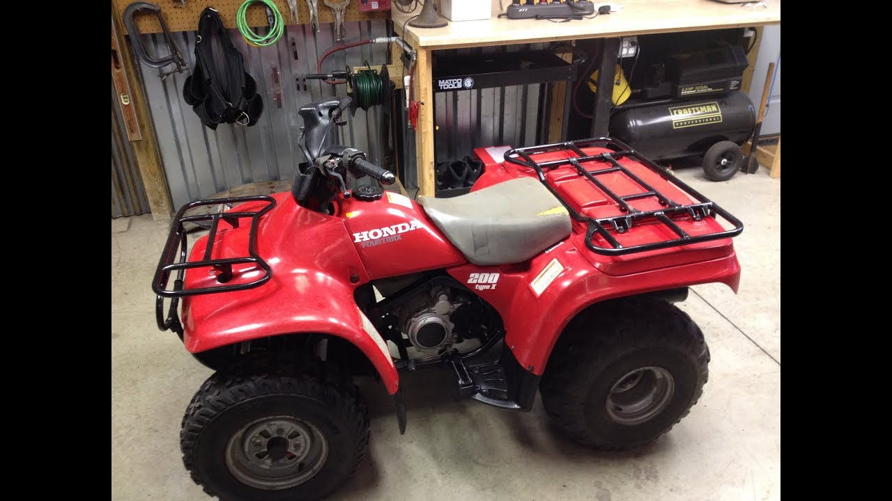 Restored Honda 1995 Fourtrax 200 type 2 overview - YouTube