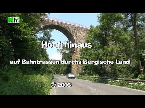 """""""Hoch hinaus""""  auf Bahntrassen durchs Bergische Land 2016"""