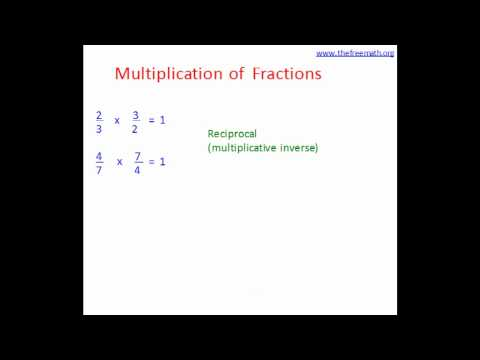 Fraction Multiplication Rules And Multiplicative Inverse