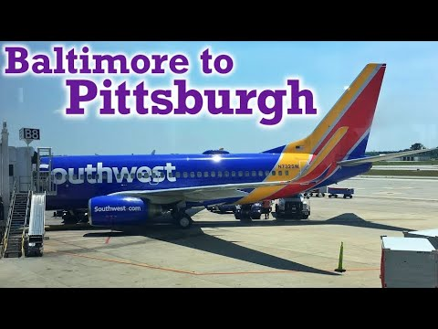 Full Flight: Southwest Airlines B737-700 Baltimore to Pittsburgh (BWI-PIT)