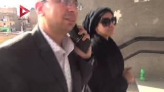 بالفيديو| ميريهان حسين أثناء توجهها لـ