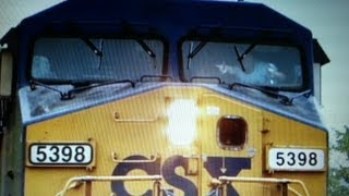 CSX Conductor with Cool Hand Signals in Hyattsville