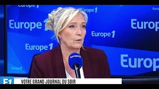 """Le plan du gouvernement sur l'immigration """"est un enfumage assez traditionnel"""", estime Marine Le Pen"""
