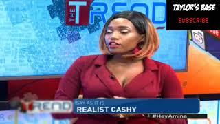 Miss Cashy exposes khaligraph Jones on live TV #khaligraph_jones #theTrend