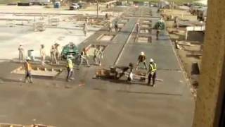 How many workers does it take to stop a spinning concrete buffer...
