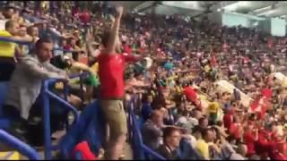 Болельщики сборной Швейцарии подбадривают команду, которая только что сравняла счет | Страна.ua