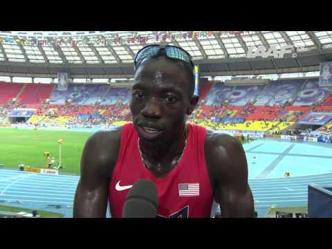 Moscow 2013 - Lopez LOMONG USA - 1500m Men - Semi Final - Heat 1