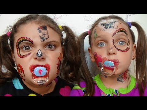 Thumbnail: Bad Baby Face Tattoo Fail Victoria & Annabelle Toy Freaks Family