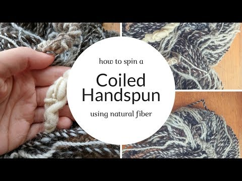 AT LONG LAST! How to Spin Natural Fleece Coiled Handspun