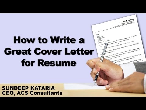 Видео Great cfo cover letters