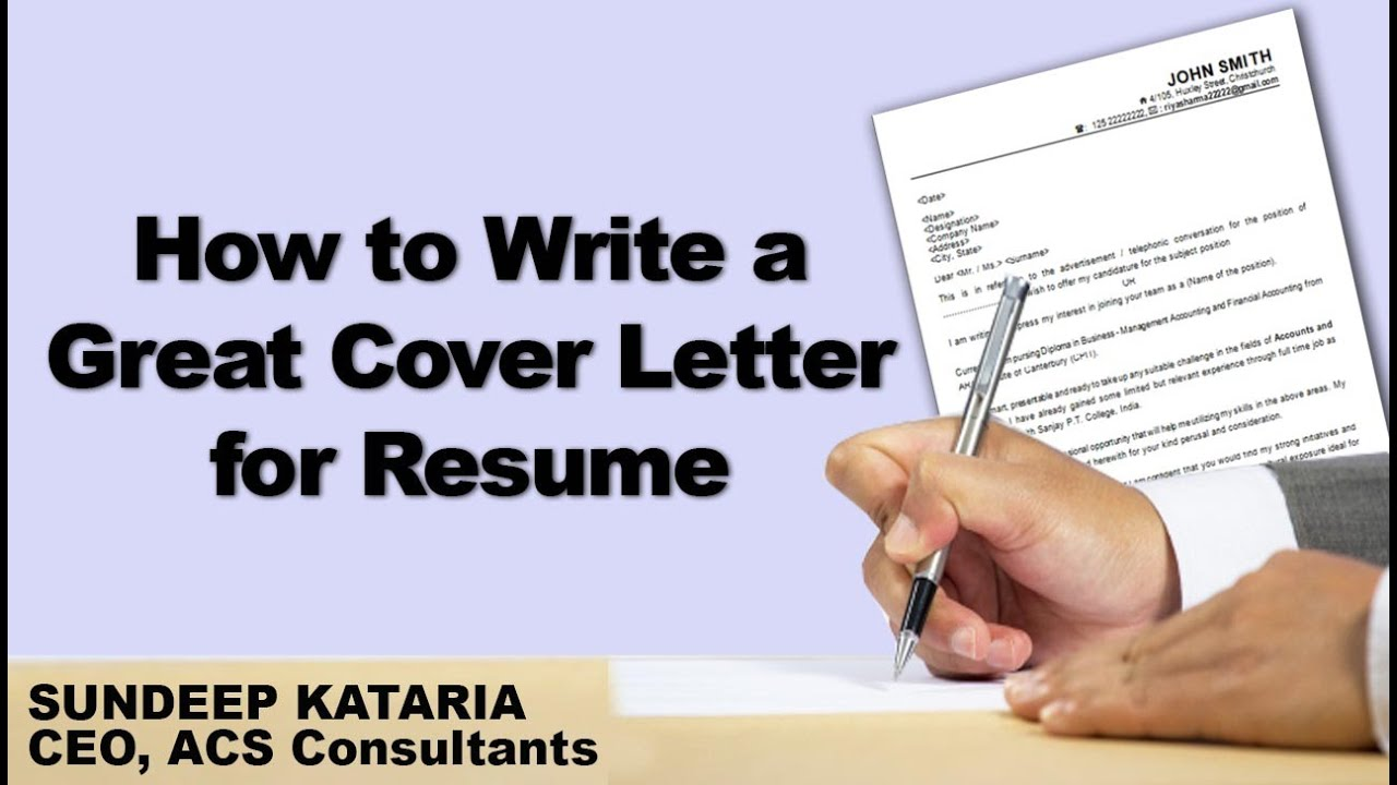 How To Write A Great Cover Letter For Resume   YouTube  How To Make A Resume And Cover Letter