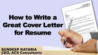 How to Write a Great Cover Letter for Resume