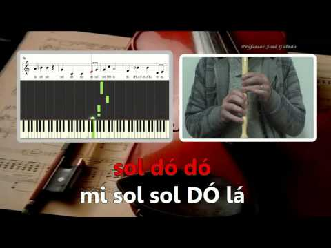 Playback - Carlos Paião - Karaoke para flauta - Educação Musical - José Galvão