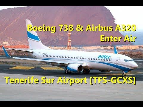 Enter Air Boeing 737-800 & Airbus A320 at Tenerife Sur Airport