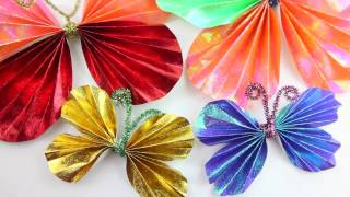 DIY| PAPER BUTTERFLIES - 1 Minute Crafts - Original Easy Paper Crafts
