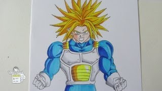 How to draw Trunks ascended Super Saiyan トランクス