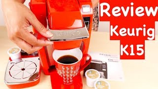 Keurig K15 Single Serve Compact K-Cup Pod Coffee Maker REVIEW
