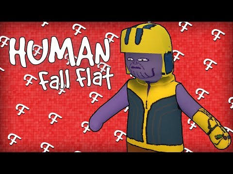 Human Fall Flat: Avengers Parkour Adventure Map! (Online Custom - Comedy Gaming)
