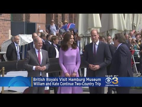British Royals Visit Hamburg Museum