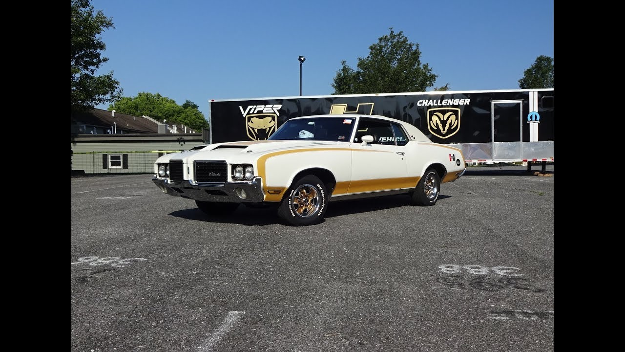 1972 Oldsmobile Hurstolds In White Gold Paint Engine Sound On