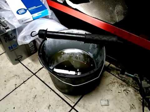 Фото к видео: Nissan Teana/Ниссан Теана полная замена масла в вариаторе.