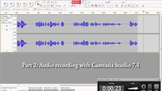 Audio quality comparison: Audacity 1.3 (good) vs Camtasia Studio 7.1 (bad)