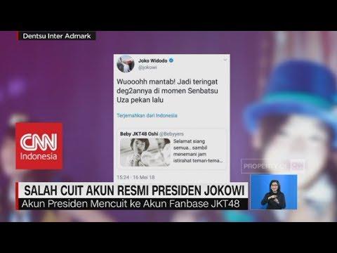 Cuit Soal JKT48, Salah Cuit Akun Resmi Presiden Jokowi