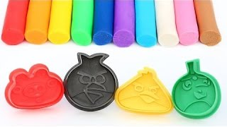The Angrybirds Movie Molds Play doh Modelling Clay Rainbow Roller Pin Fun and Creative