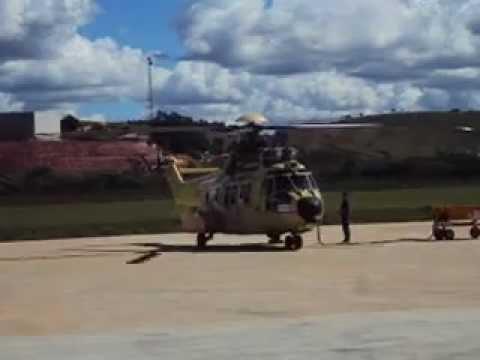 Primeiro giro de rotor de um helicóptero EC725 - Teste realizado no Brasil