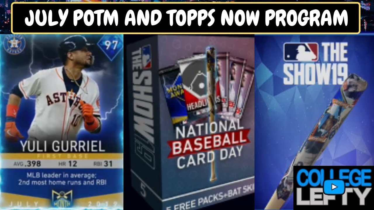 July Potm Program July Topps Now Players Revealed Free Packs And Bat Skin