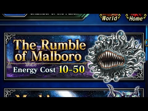 FFBE global malboro trial elt first attempt - failed