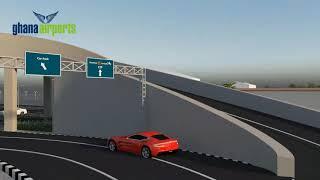 Terminal 3 Road Network Animation, Kotoka International Airport (English Version)