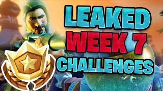 *LEAKED* All Fortnite Week 7 Challenges FAST and EASY | Retail Row Treasure Map Location?